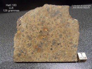HaH 183 LL6 tranche de 128 grammes !!! dans meteorites hah-183-ll6-128-grs-300x225